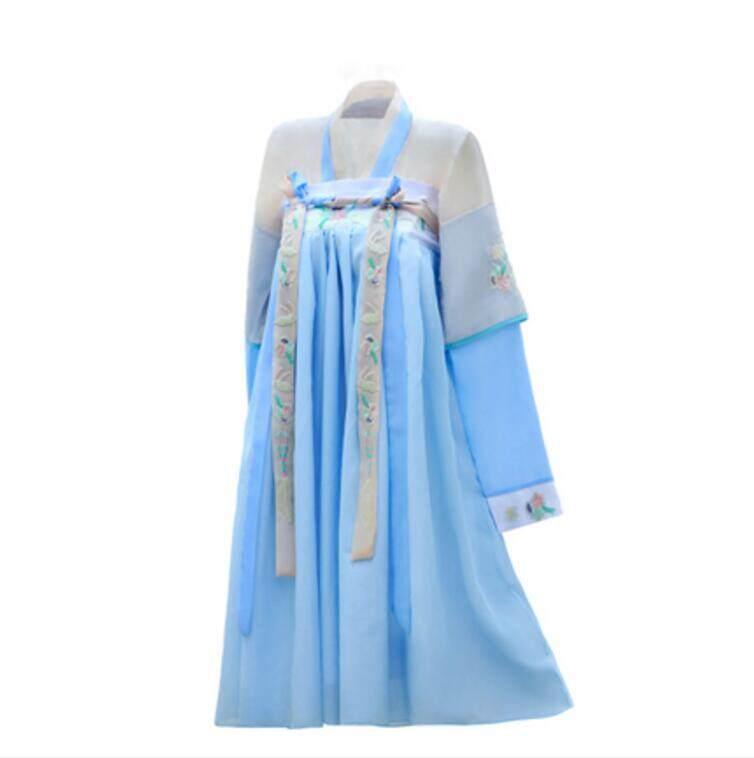Wanita Cina Hanfu Retro Gadis Dinasti Kostum Kinerja Gaun Peri-Intl