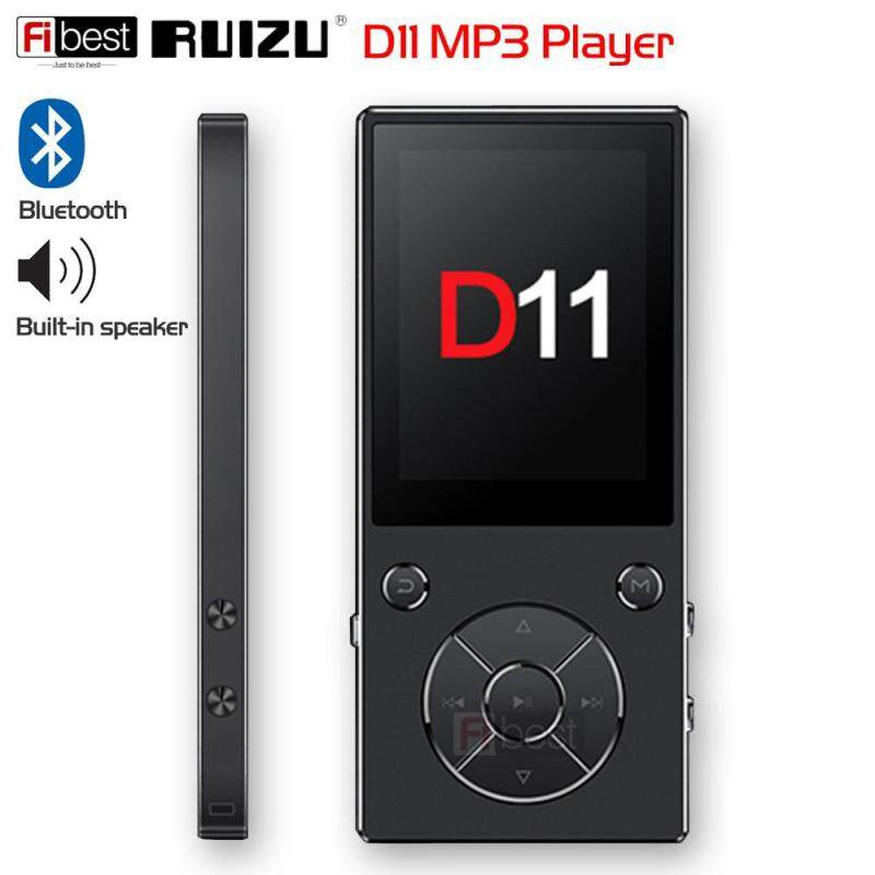 Original RUIZU D11 Bluetooth MP3 MP4 Player Music Player 8GB Metal Music Player with Built-in Speaker FM Radio Support TF Card