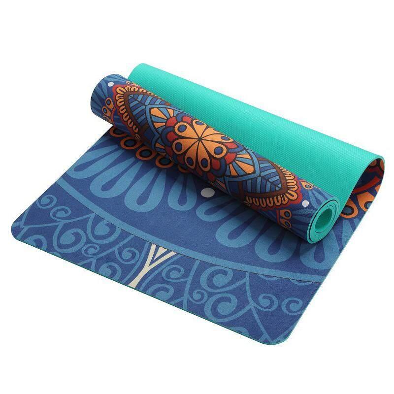Rojey TPE Bahan Anti-Slip Desain Polka Dot Anti-Slip Matras Yoga Suede