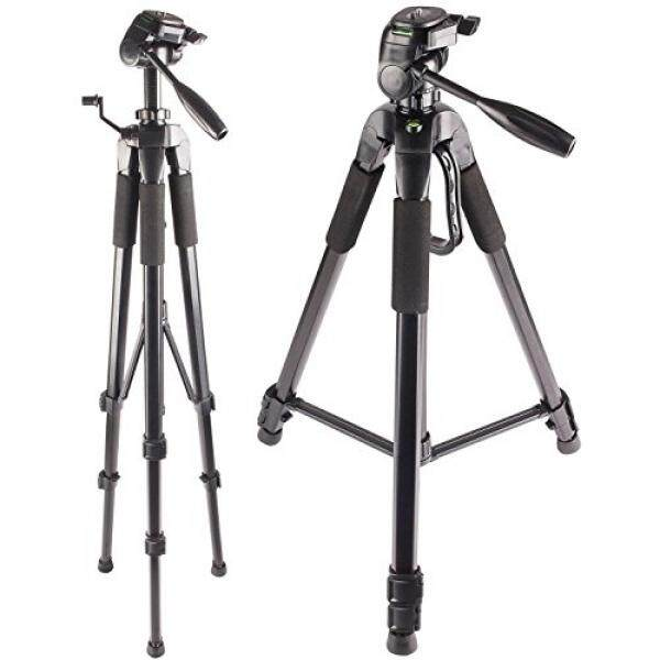 72-Inch Multi-Angle Tripod with Fluid Head - For Nikon D3200, D3300, D3400, D5200, D5300, D5500, D5600, D7200, D7500, D90, D300, D500, D610, D700, D750, D800E, D810A, D850 Digital SLR Camera - intl