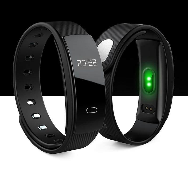 Gracekarin Online QS80 Bluetooth Smartwatch Heart Rate Tekanan Darah Monitor Gelang Pelacak