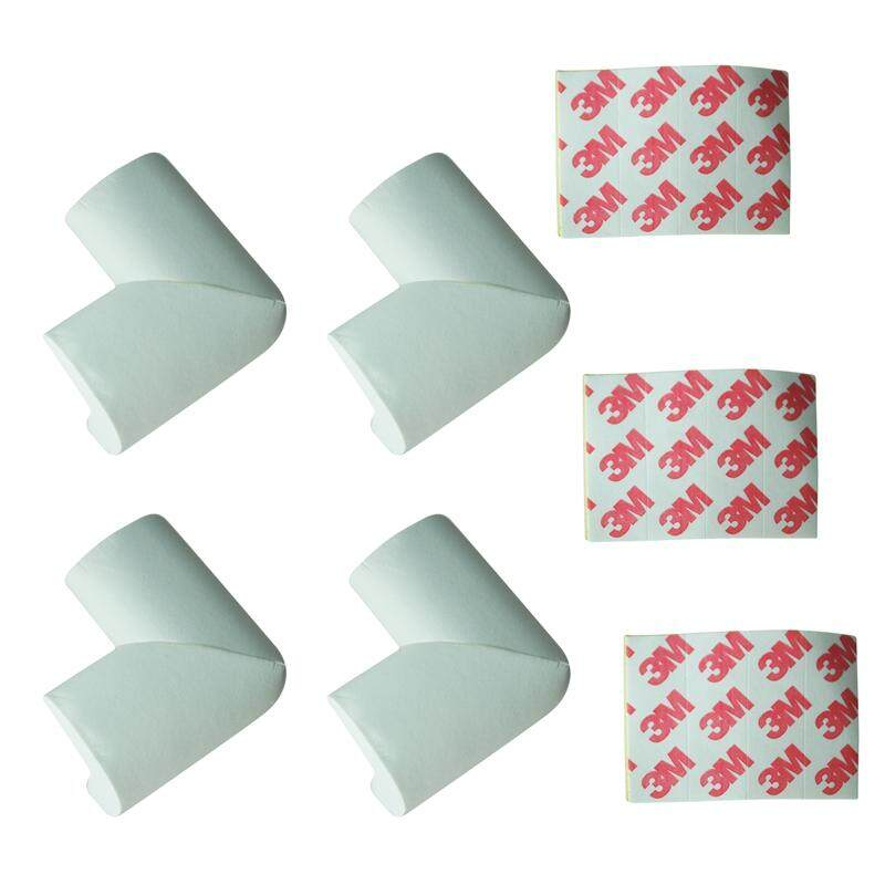 4 x BABY SAFETY CORNER CUSHIONS - DESK TABLE COVER PROTECTOR - SAFE FOR CHILD-