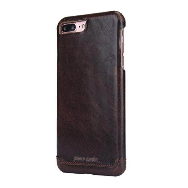 Cell Phones Cases iPhone 7 Plus Case , Original Pierre Cardin Genuine Leather Mobile Phone Back Cover Case for Apple iPhone 7 Plus (Dark Brown) - intl