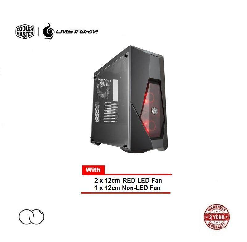 Cooler Master MasterBox K500L ATX Chassis (with RED LED Fan) Malaysia