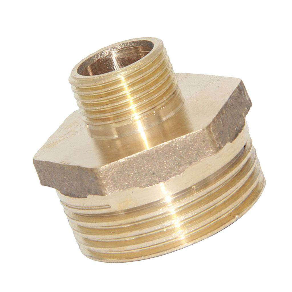 """Fityle 1inch to 3/8"""" Male Thread Pipe Fitting Hose Tail Connector Adaptor Brass"""