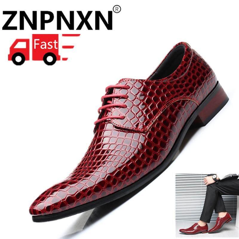 Znpnxn Ukuran 38-47 Sepatu Formal untuk Pria Pria Kasual Pria Sepatu Kulit  Pria Sepatu 62610a05ca