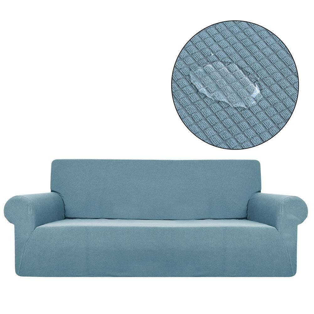 Hot Sale Waterproof Sofa Cover Home Cloth Universal Elastic Full Edged Solid Color Plaid Polar Fleece Sofa Cover