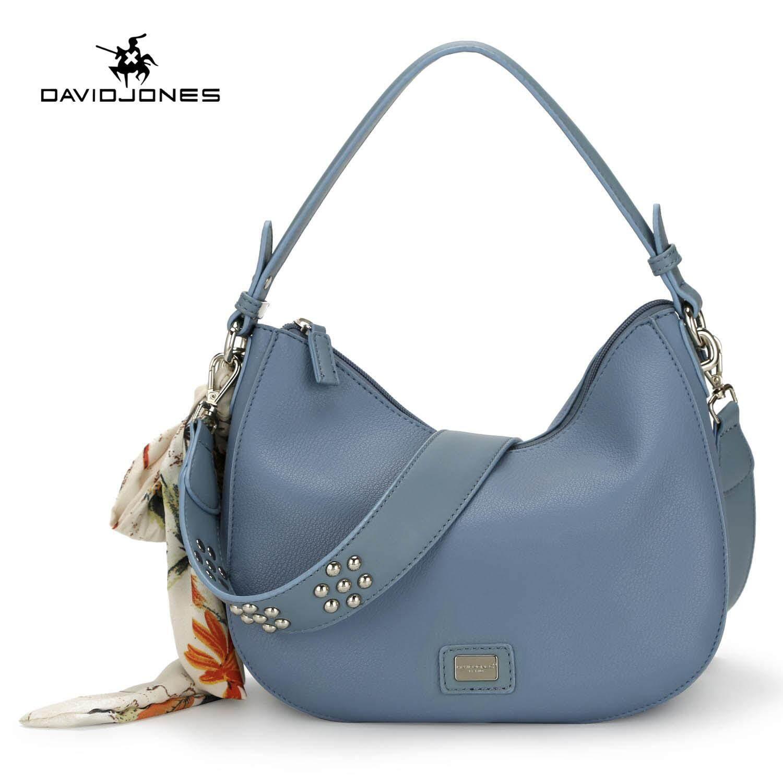 DAVIDJONES women shoulder bag pu leather female crossbody bag small lady  scarve shoulder bag girl casual 05a9fc134ab7a