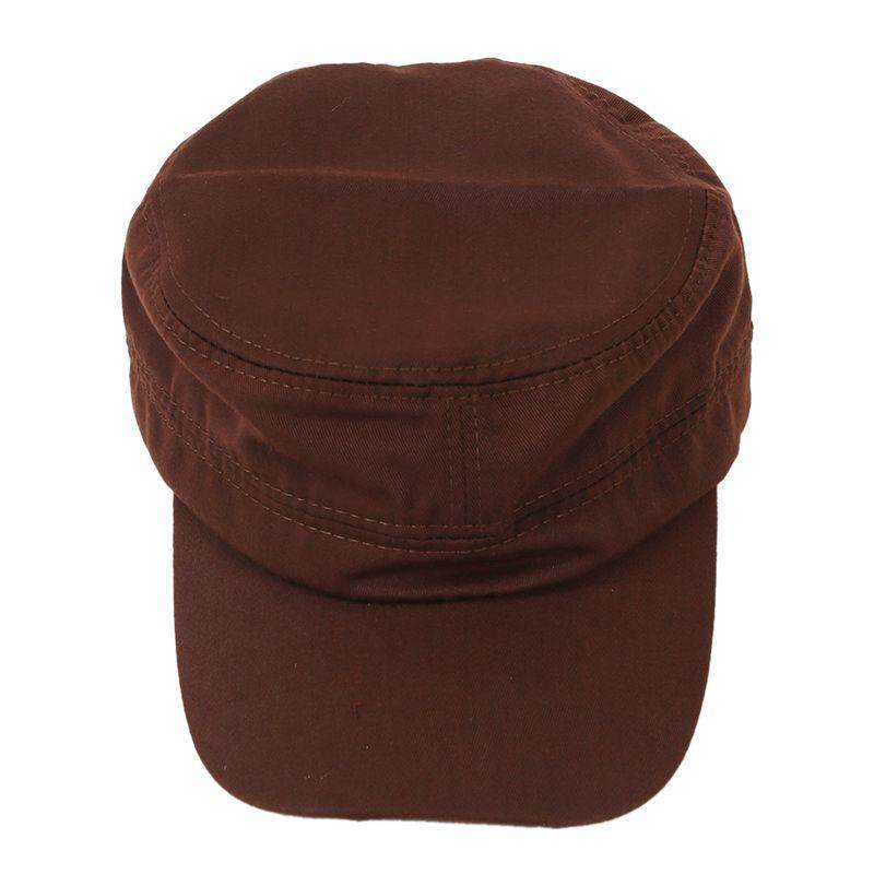 Stylish Plain Military Army Cap Castro Cadet Patrol Cap Hat Adjustable(Coffee)