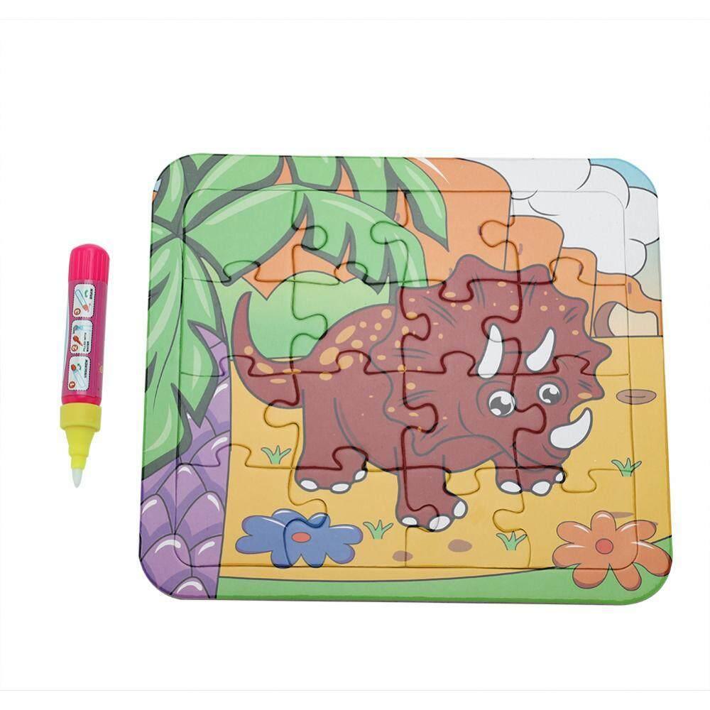 Bayi Anak-anak Es Krim Empuk Kartu dengan Pena Dapat Digunakan Kembali Belajar Teka-teki Gambar Permainan Mainan (Cp1389-6)-Intl