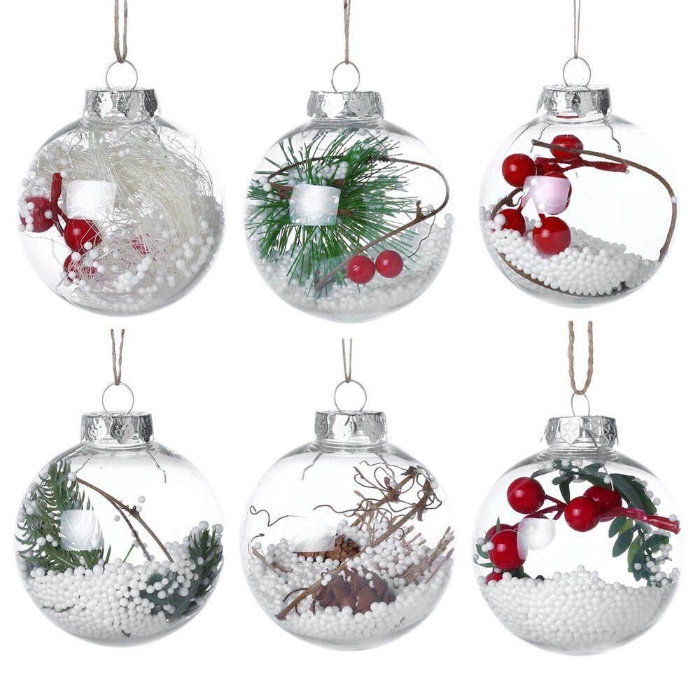 6 Pcs/Set Christmas Tree Drop Ornaments Xmas Pendant Hanging Ball Christmas Decorations For Home 2018