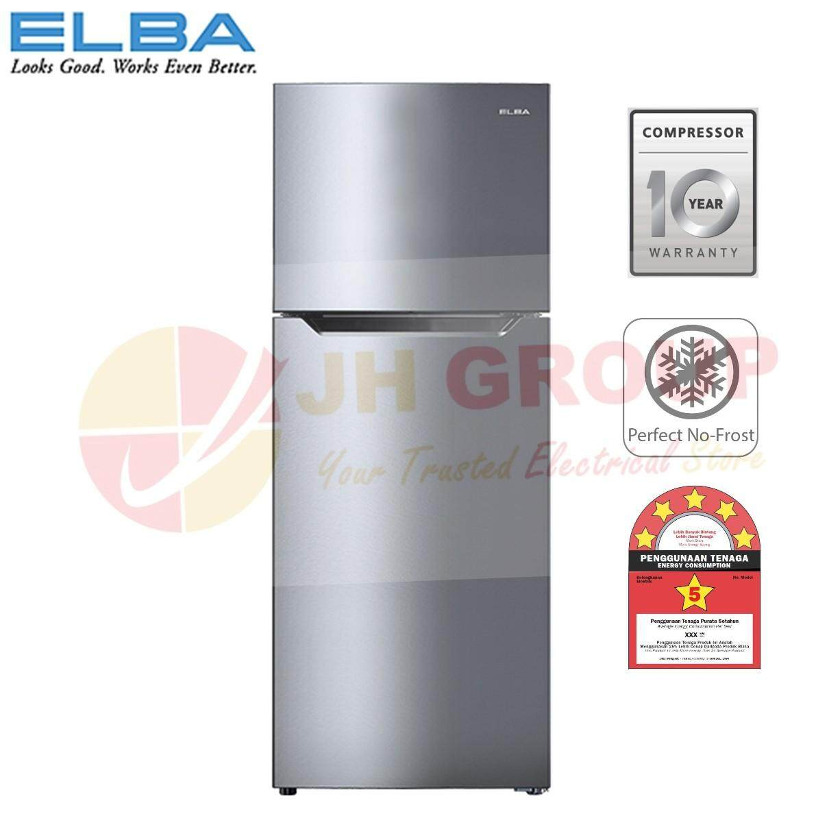 (AUTHORISED DEALER) ELBA ITALY ER-G4334 (SV) 430L 2-DOOR REFRIGERATOR
