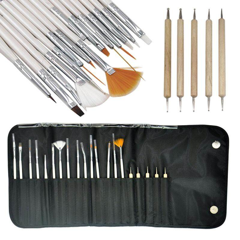 Nail Art 20PCS Design Painting Pen Brush Set for Salon Manicure DIY Tool - intl Philippines