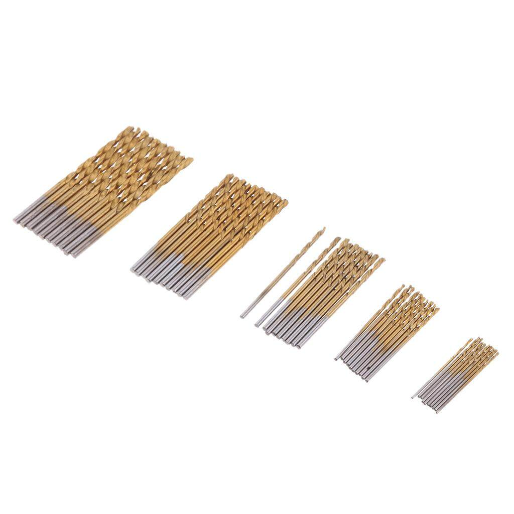 Miracle Shining Titanium Coated HSS Drill Bit Set 50 Piece Plastic Wood Metal Kit 1mm - 3mm