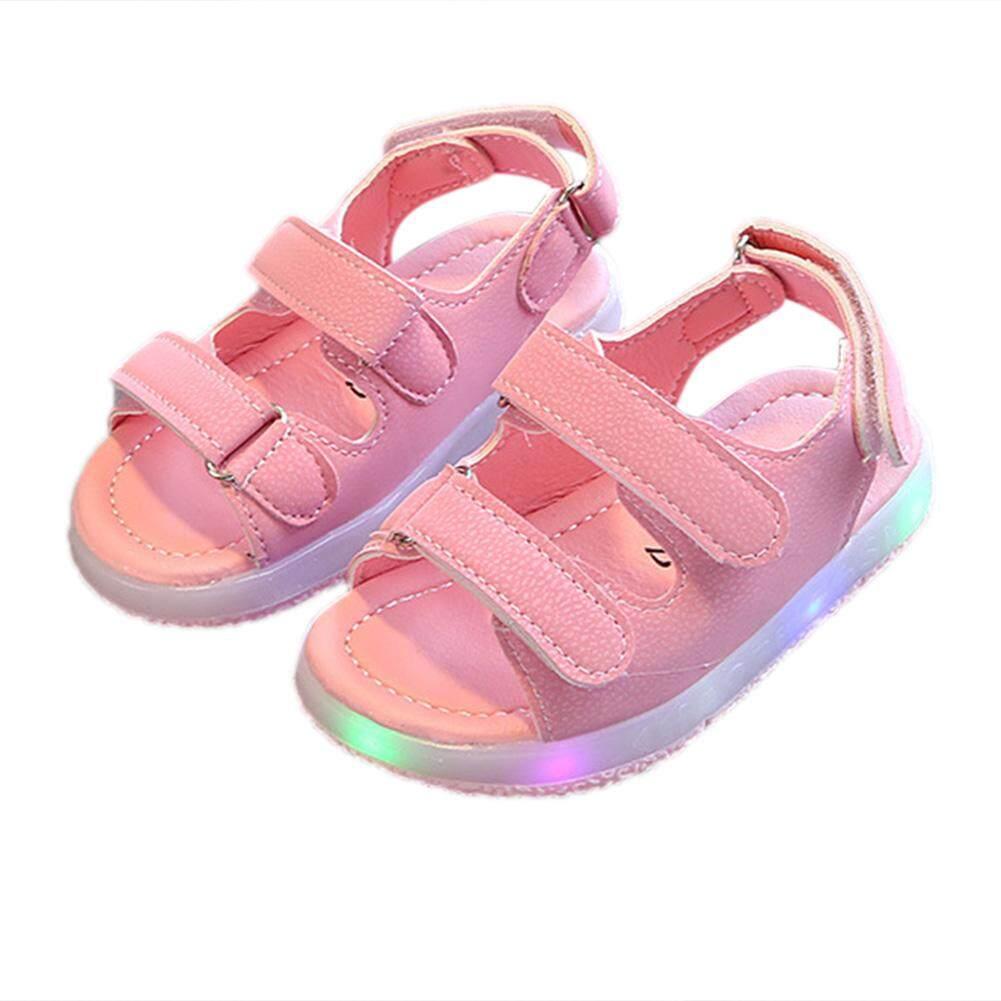 Veecome Bayi Laki-Laki Sandal Led Pencahayaan Bercahaya Sneakers Untuk 1-6y Anak-Anak-Intl By Veecome