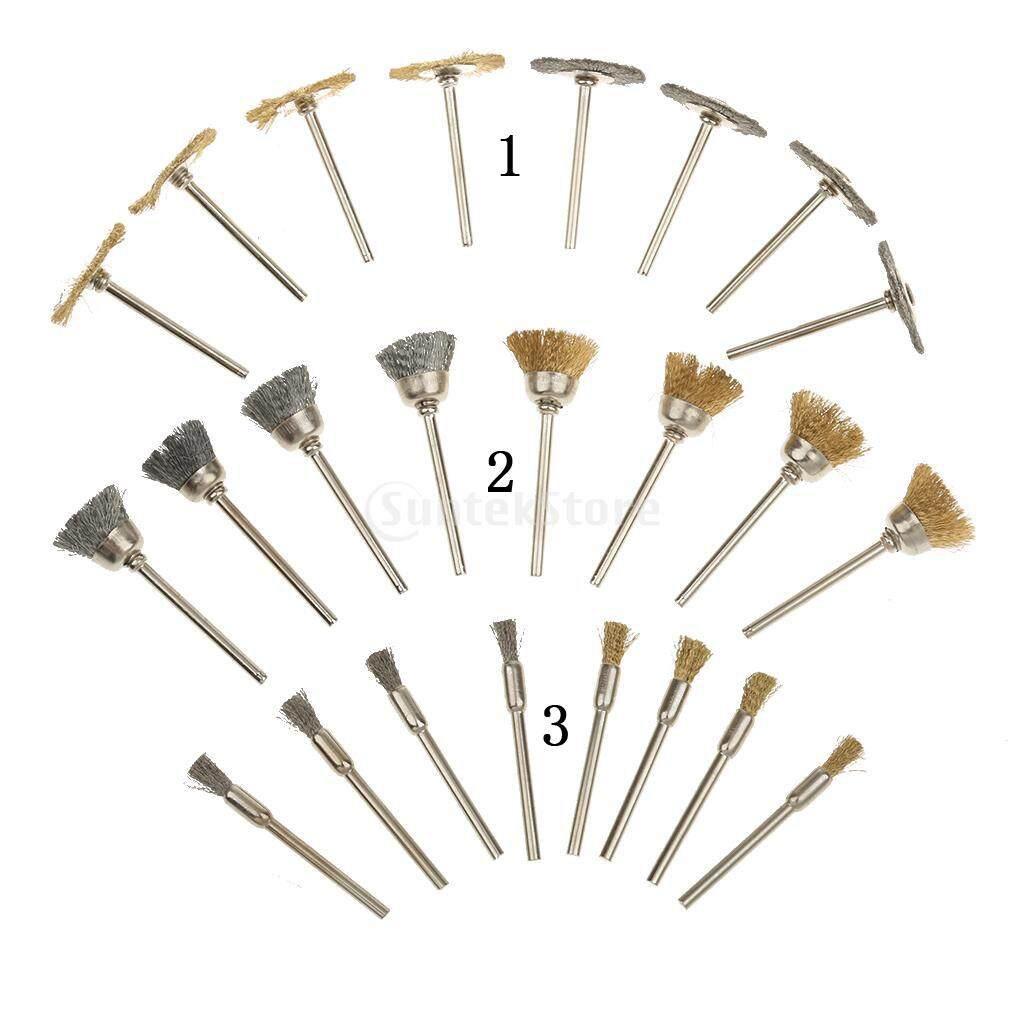 MagiDeal 24pcs Polishing Compound Buffing Wheel Pad Brusher Kit Jewelry PolishingTool