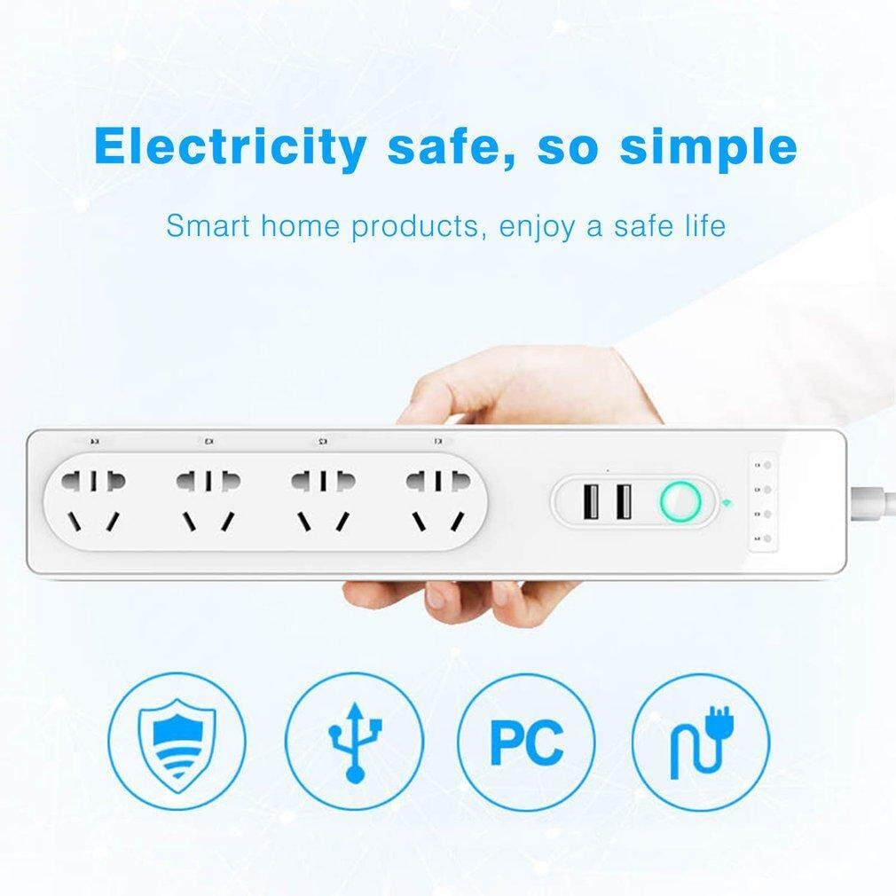 ELEC Wifi Intelligent APP Remote Control Socket AU Plug Alexa Voice Control Timing Switch Smart Separate Control Socket AU Plug