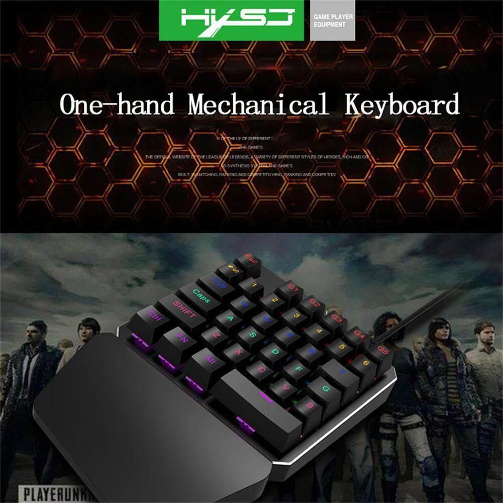 Kelebihan Single Hand 35 Keys Usb Gaming Mechanical Keyboard Led Nyk K 02 Hitam Detail Gambar Backlight For Pubg Terbaru