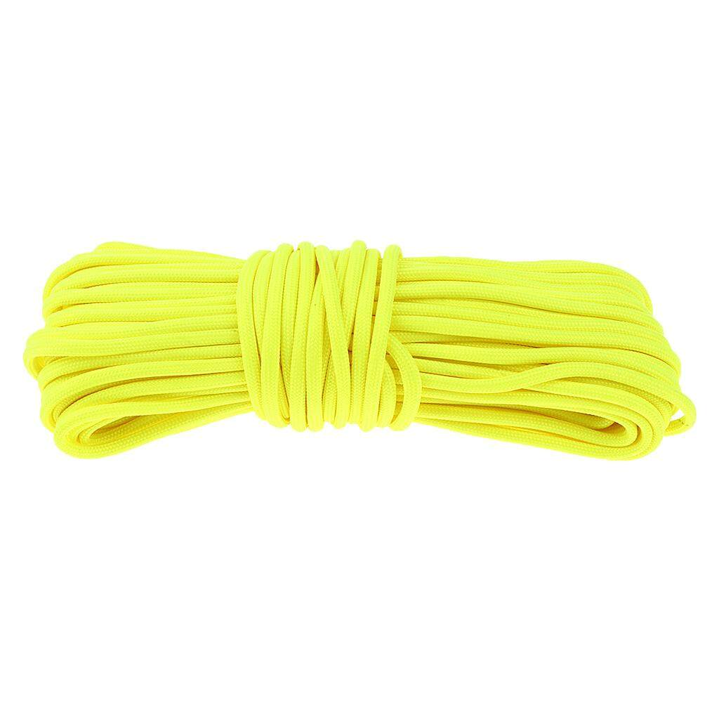 Magideal Glow In The Dark 550 Luminous Paracord Parachute Rope Cord Outdoor Yellow By Magideal.