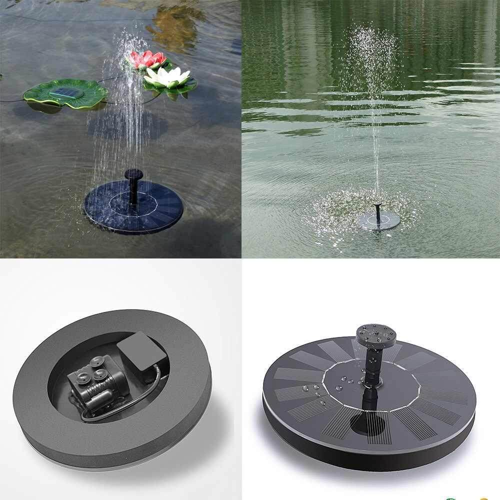 Yuchen Solar Bird bath Fountain Pump for Garden and Patio, Free Standing 1.3W Solar Panel Kit Water Pump, Outdoor Watering Submersible Pump,Water spray height: 60-100cm