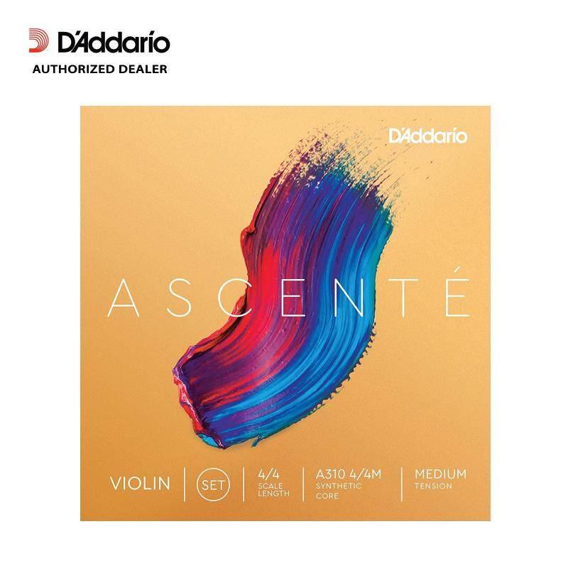[USA MADE & Original] DAddario Ascenté Violin String 4/4 Scale Set - Medium Tension Malaysia