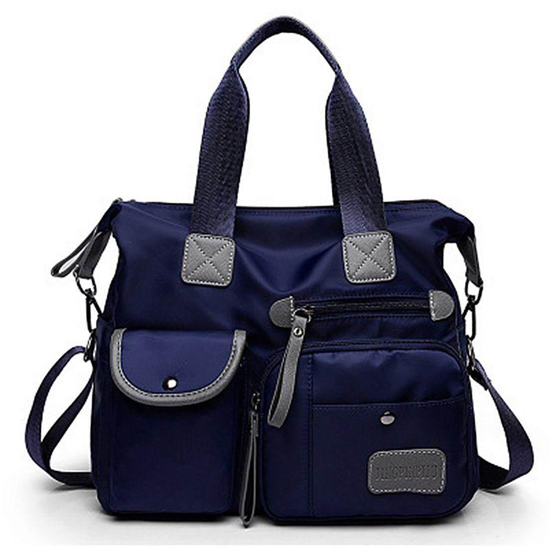 กระเป๋าเป้ นักเรียน ผู้หญิง วัยรุ่น ชุมพร Black New Ladies Fashion Waterproof Oxford Tote Bag Casual Nylon Shoulder Bag Mummy Bag Large Capacity Canvas Bag