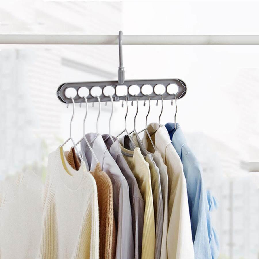 Fitur Lanjarjaya Wonder Hanger Gantungan Baju Random Single Pole Magic Clothes Wardrobe Space Save Hook Rack Closet Organizer