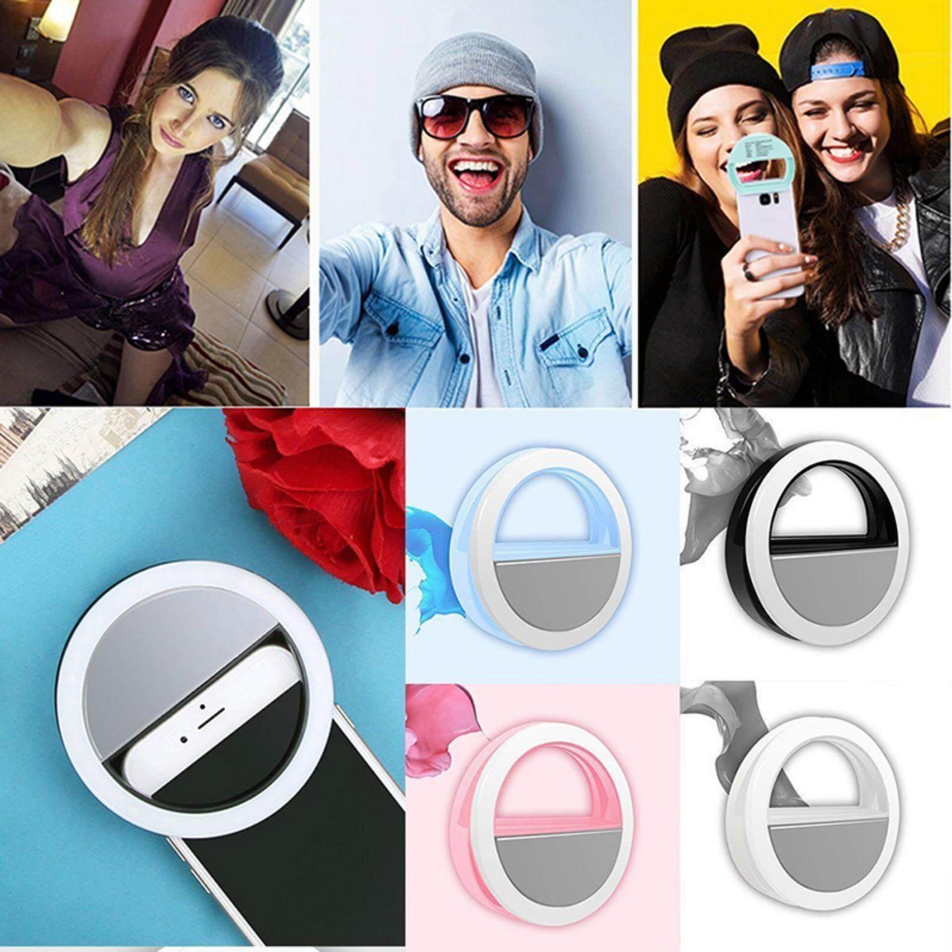 Gậy chụp hình Selfie LED Flash Vòng Lấp Đầy Kẹp Camera Cho Điện Thoại Máy Tính Bảng IPhone Samsung USB