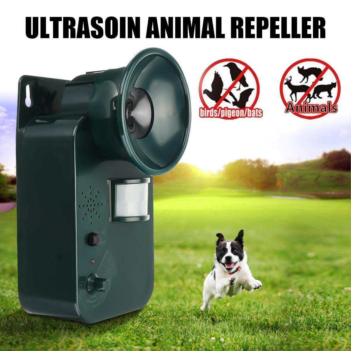 5000ft Ultrasonic Pest Repellers Outdoors Garden Mouse Bird Cat Animal Attacker - intl