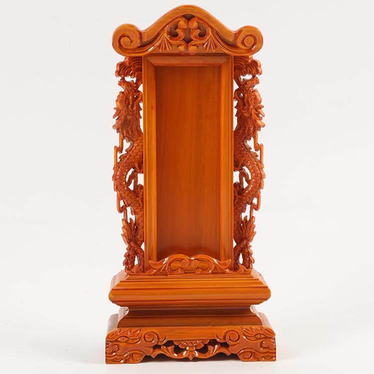 Golden pine real dragon tablet tablets, Ling ancestral god position, handmade Ling 36cm - intl