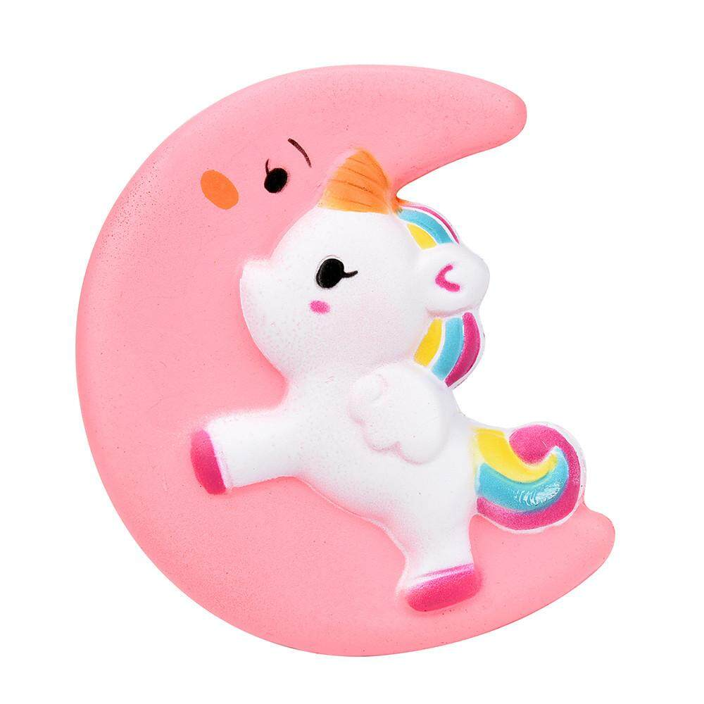 Fantnesty Squishy Cute Moon Unicorn Scented Cream Slow Rising Squeeze Decompression Toys