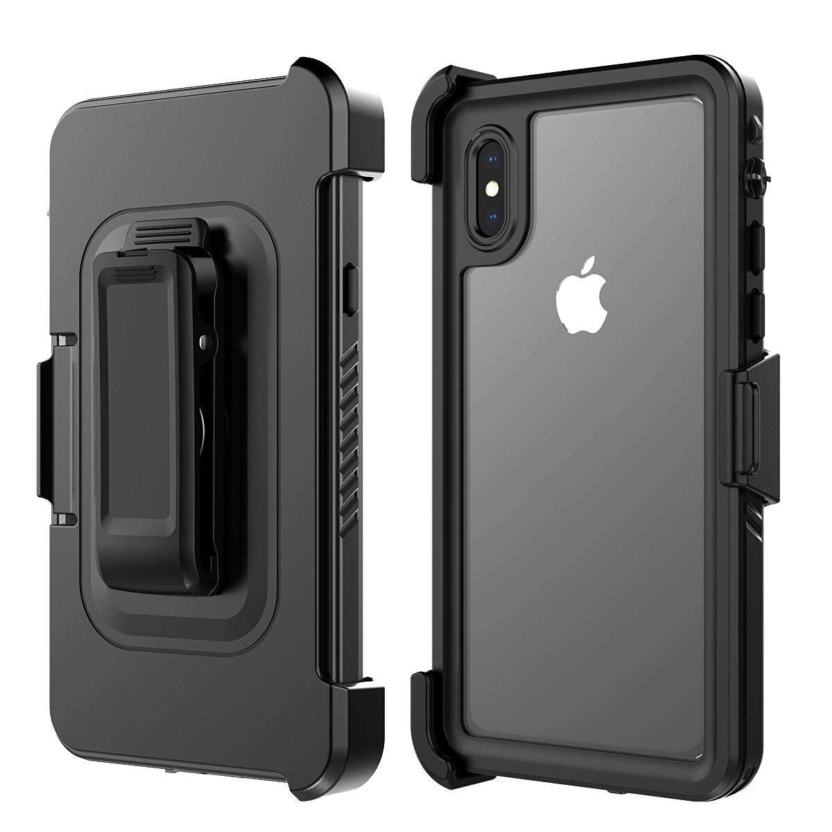Case for iPhone X Case 360 Degree Protection Waterproof Dustproof Shockproof Back Case Kickstand and Swivel