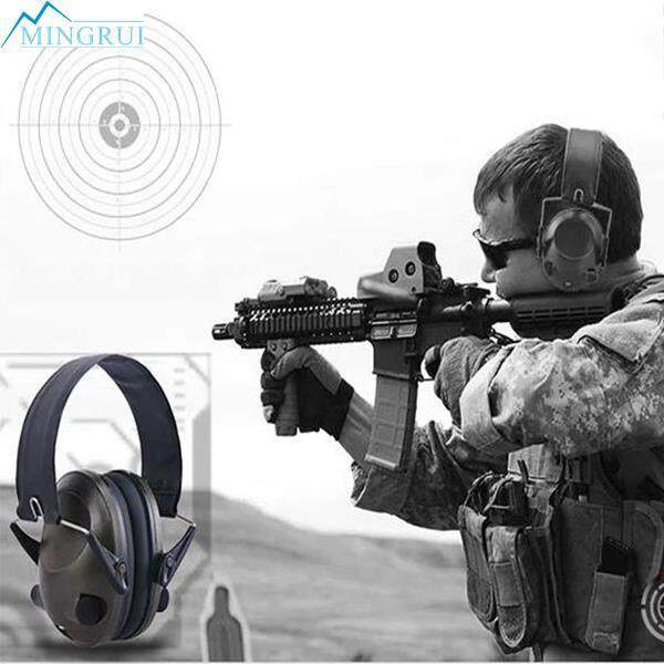 Tactical Anti-Noise Electronic Earmuff Fold Ear Hearing Earmuffs 21SNR