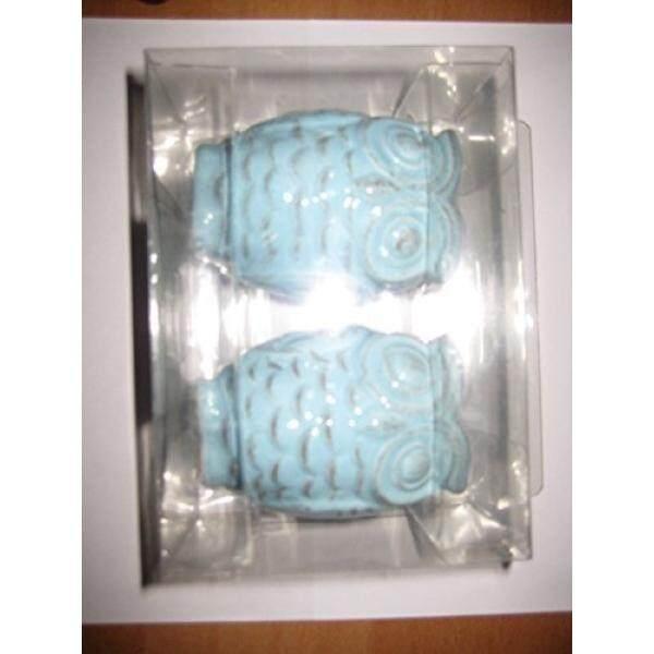 Tupperware Salt & Pepper Shaker Sets Mainstays Slate Blue Ceramic Owl Salt & Pepper shakers - intl
