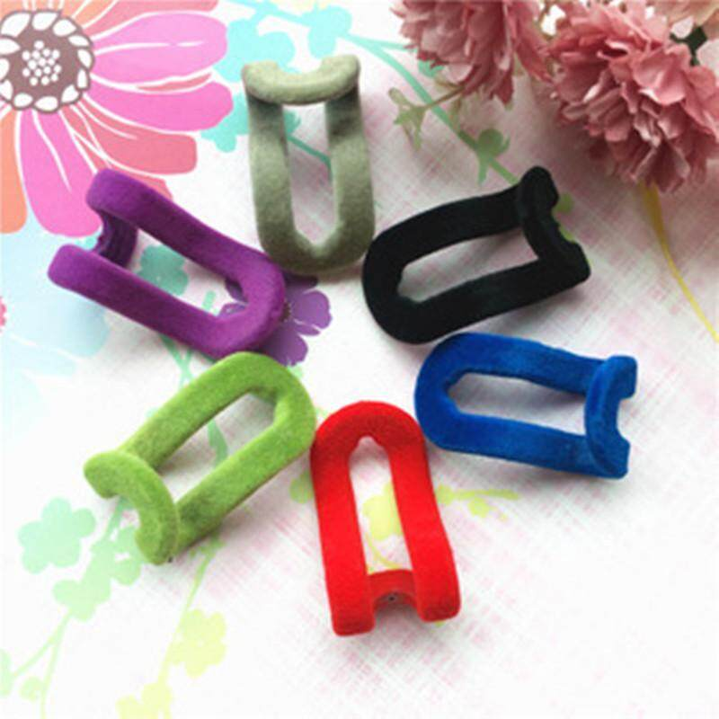 10pcs/lot Mini Flocking Clothes Hanger Easy Hook Closet Organizer (random color)