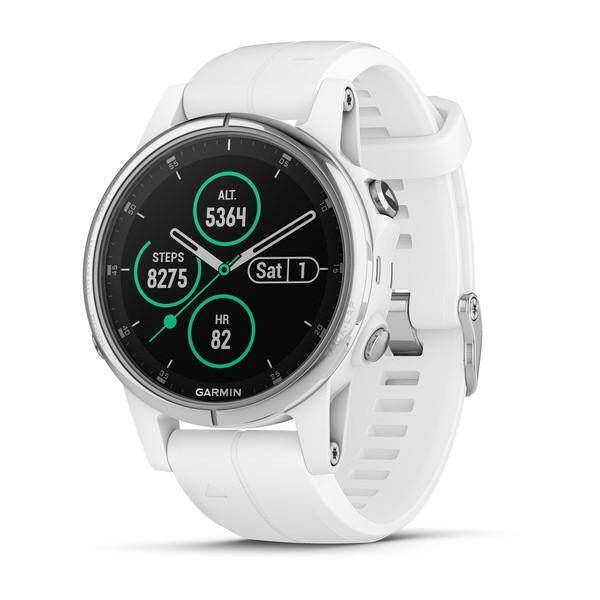 การใช้งาน  ระนอง Garmin Fenix 5 วินาที PLUS Sapphire Multisport Premium นาฬิกาจีพีเอสสีขาวซิลิโคนสีขาว