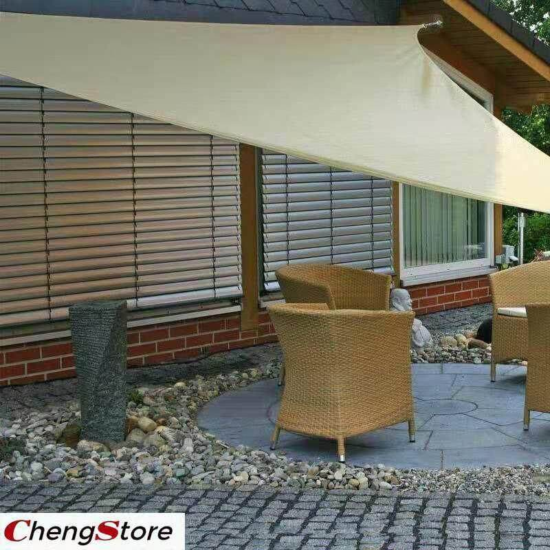 10 X10 Sun Shade Sail Triangle Canopy - Permeable Uv Block Fabric Durable Outdoor By Chengstore.