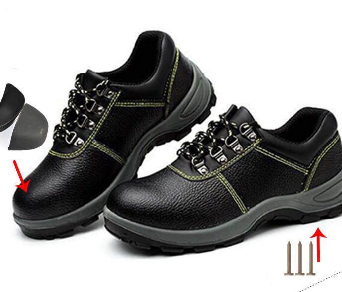 Sepatu Keselamatan Sepatu Bot Pria Penutup Jari Kaki Baja Tahan Air Hiking Anti-Smashing Tusukan Besar Size35-46
