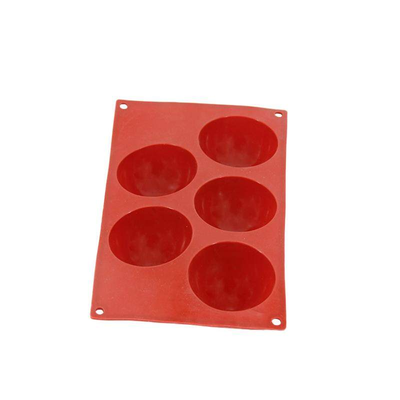 ... Silicone 5 Holes Domed Round Cake Mold For Muffin Pastry Chocolate Jelly Pudding Baking Bakeware tools ...