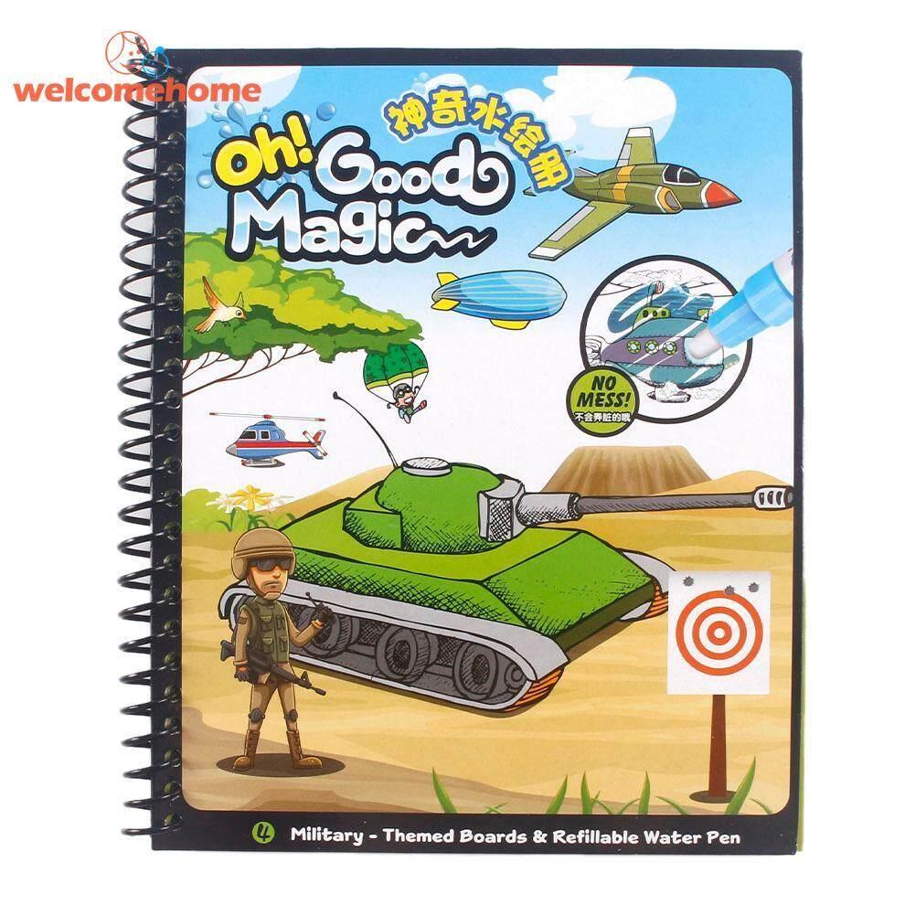 Dapat Digunakan Kembali Gambar Air Ajaib Buku Mewarnai Doodle W/pena Lukisan Mainan Anak-Intl By Welcomehome.