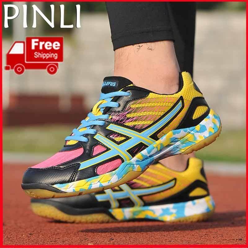 Pinli [pengiriman Gratis] Olah Raga Pria Dan Wanita Sepatu Indoor Tenis Bulutangkis Ringan Bernapas Sepatu Olahraga Pelatihan Mendaki Berjalan Sepatu By Pinli.