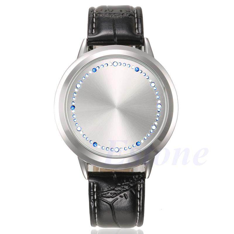 Fashion LED Digital Watches Touch Screen Leather Band Couple Sport Wrist Watch Malaysia