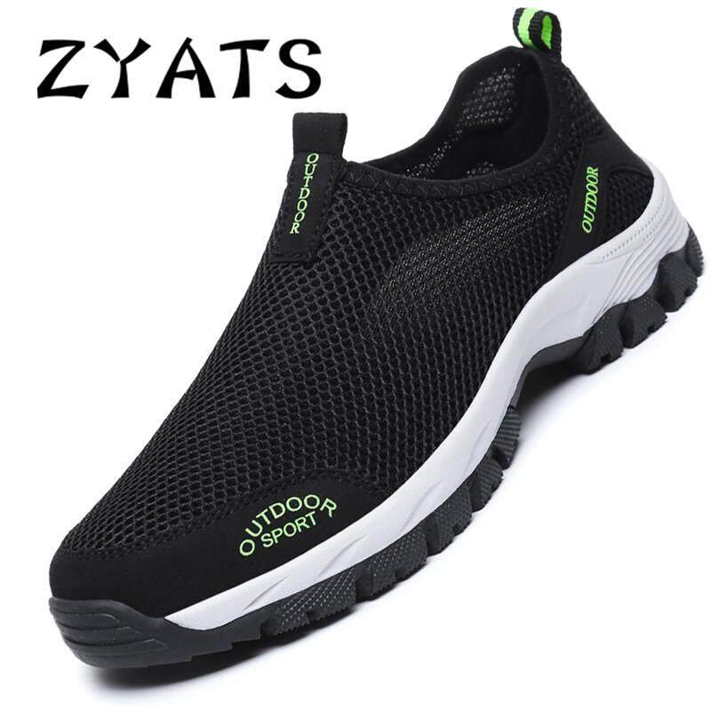 Zyats Kasual Pria Bernapas Sepatu Jogging Bernapas Mesh Sepatu Sepatu  Olahraga Nyaman Ukuran Besar 39- e578990ad3