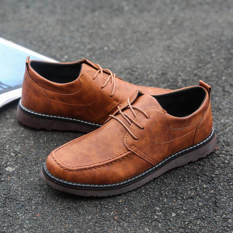Spring Fashion Men Formal Shoes Leather Outdoor Business Office Shoes For Men Fesyen Lelaki Kasut Kulit Pejabat Perniagaan - intl