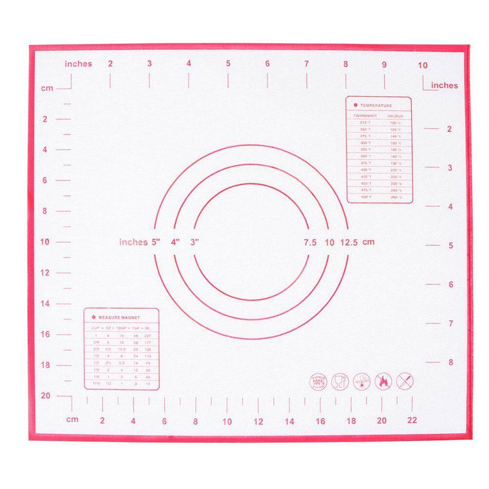 Convenience Non Stick Silicone Baking Mat Kneading Dough Mat Baking Pad Cooking Tools By Companionship.