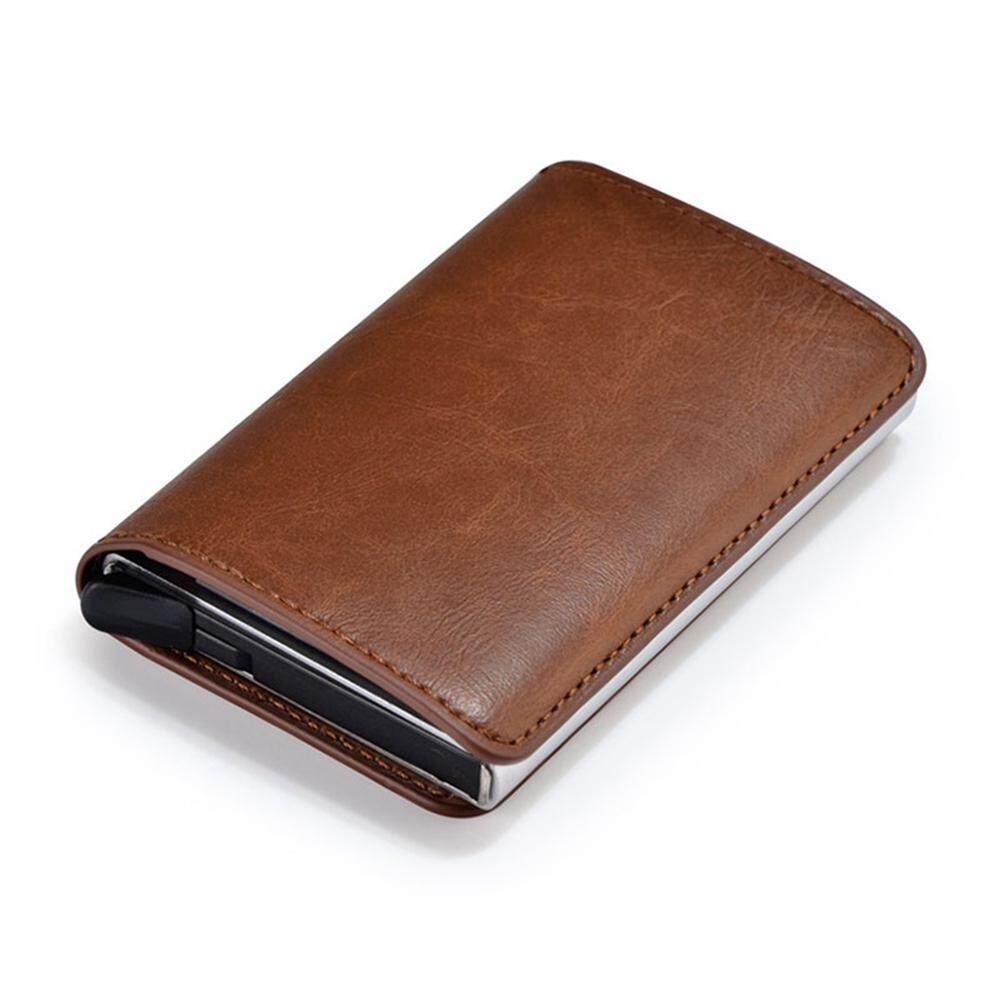 e6a3d2f9d36 Auoker Credit Card Holder RFID Blocking Wallet Slim Wallet PU Leather  Vintage Aluminum Business Card Holder