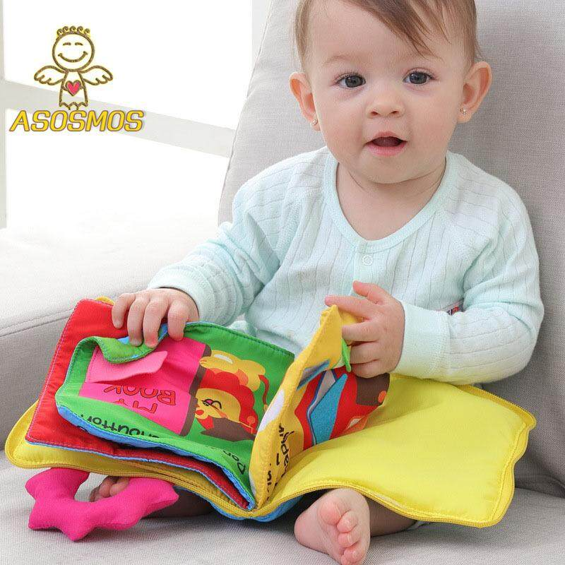 Asm Kid Cloth Book Baby Stroller Cognition Squeak Cute Toy Soft Infant Early Education Development Book By Asosmos.