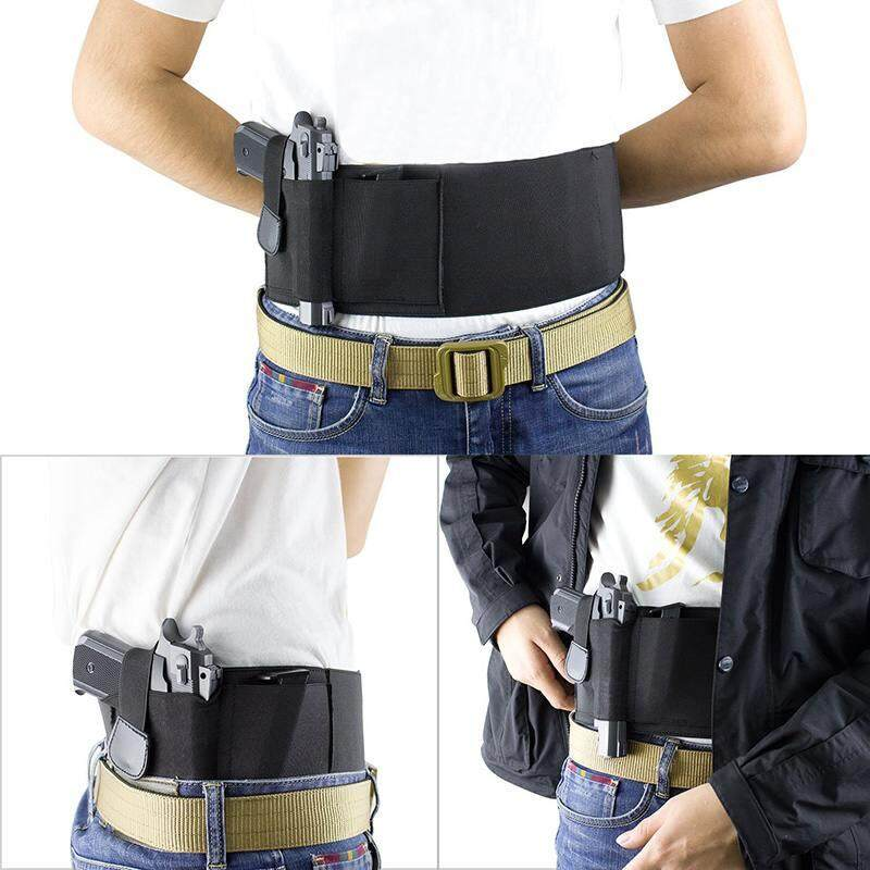 Vigo Vigo Right Hand Multifunction Outdoor Neoprene Fabric Belly Waistband Concealed Holster Carrier Holster Invisible Girdle
