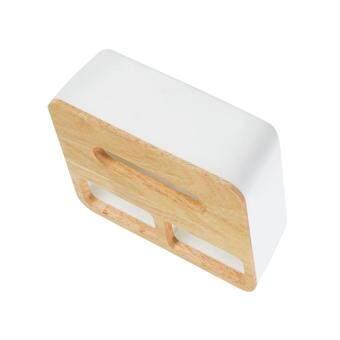 ขายช็อก BolehDeals Modern Wood Cover Tissue Box Holder Paper Napkin Case Home Office Square 2 ซื้อเลย - มีเพียง ฿277.24