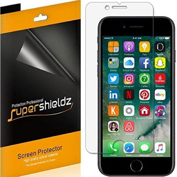 Pelindung Layar Supershieldz [6 Pack] untuk Apple iPhone 8 PLUS/Iphone 7 Plus Pelindung Layar, anti Bubble Definisi Tinggi Antigores Bening + Seumur Hidup Penggantian Garansi-Retail Packaging-Intl